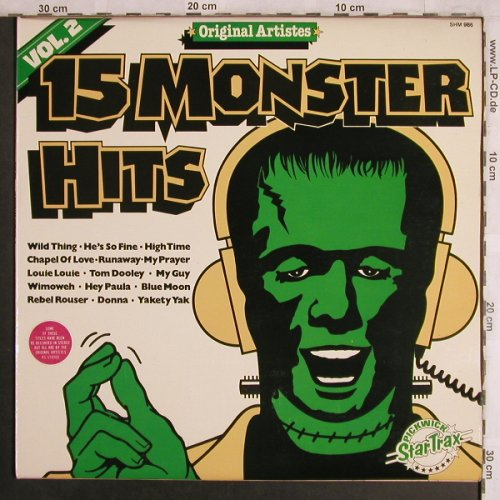 V.A.15 Monster Hits Vol.2: Dixie Cups...Chiffons, 15 Tr., Pickwick(SHM 986), UK,  - LP - A8026 - 4,00 Euro