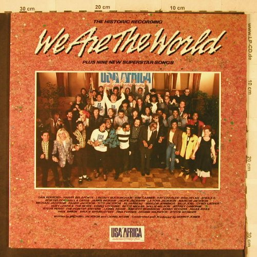 USA For Africa: We Are The World, Foc, CBS(26 454), NL, 1985 - LP - A8319 - 3,00 Euro