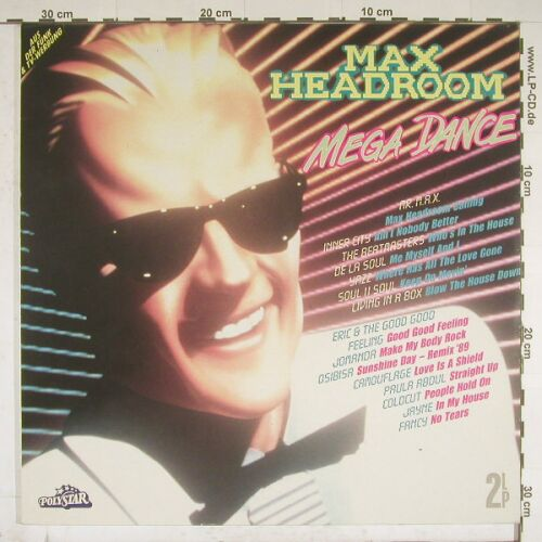 V.A.Max Headroom Mega Dance: 28 Tr., Polystar(840 506-1), D, 89 - 2LP - A9852 - 5,00 Euro