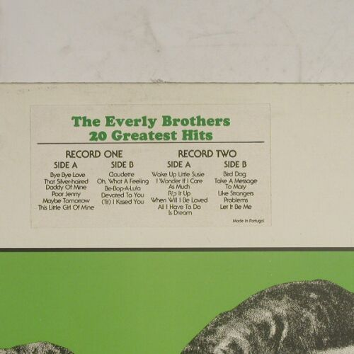 Everly Brothers: Greatest Hits,Foc, Afiro(MZ-66.004), P, 80 - 2LP - B206 - 5,00 Euro