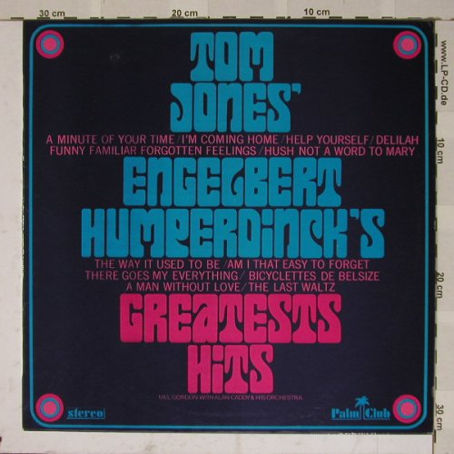 Jones,Tom & Engelbert Humperding: Greatests Hits, PalmClub(), NL, 69 - LP - B4811 - 4,00 Euro