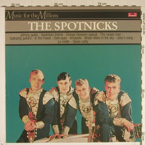 Spotnicks: Music For The Millions, Polydor(2482 584), D, 1982 - LP - B579 - 4,00 Euro
