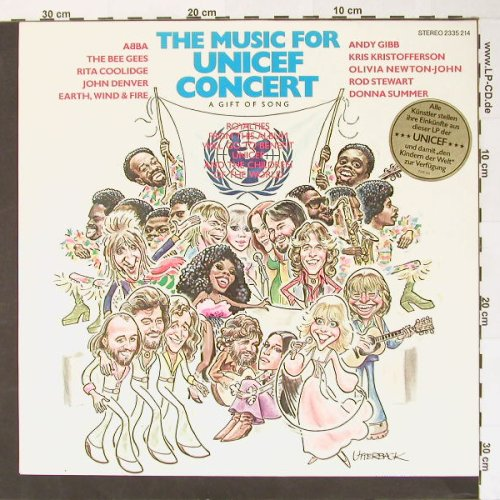 V.A.The Music For Unicef Concert: A Gift Song, Polydor(2335 214), D, 79 - LP - B7620 - 5,00 Euro