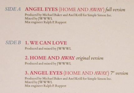 Wet Wet Wet: Angel Eyes*2+2, EP, Mercury(870 005-1), D, 87 - 12inch - B8643 - 3,00 Euro