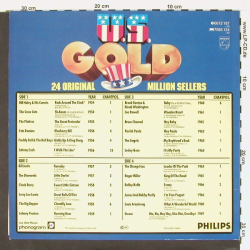 V.A.U.S.Gold: 24 Original Million Sellers, Philips(6612 187), D,  - 2LP - C156 - 5,00 Euro