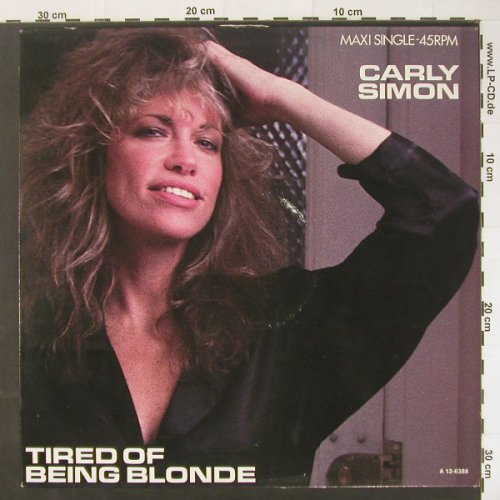 Simon,Carly: Tired Of Being Blond+2, m-/vg+, Epic(A 12-6388), NL, 1985 - 12inch - C1897 - 1,50 Euro