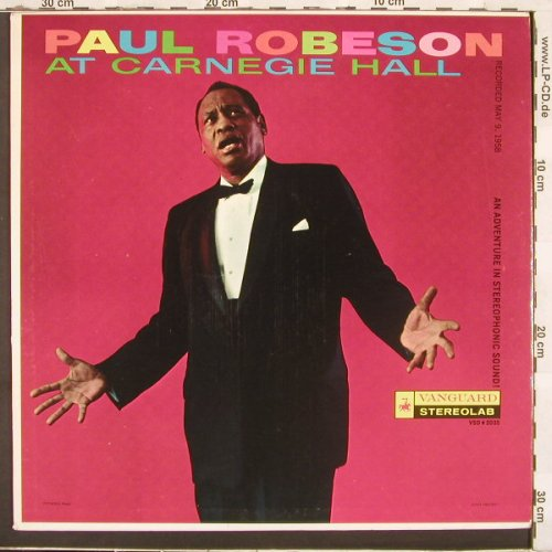 Robeson,Paul: At Carnegie Hall, Vanguard(VSD 2035), US, 1958 - LP - C2762 - 5,00 Euro