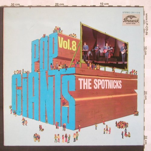 Spotnicks: Pop Giants Vol.8, Brunswick(2911 519), D,  - LP - C4025 - 5,00 Euro