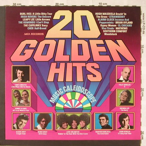V.A.20 Golden Hits-Music Caleidosco: Tony Christie...Marvin Hamlisch, MCA(6.22608 AP), D, 20 Tr., 1976 - LP - C4967 - 4,00 Euro