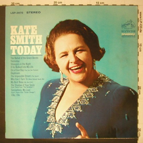 Smith,Kate: Today, m-/vg+, RCA(LSP-3670), US,  - LP - C5995 - 6,50 Euro