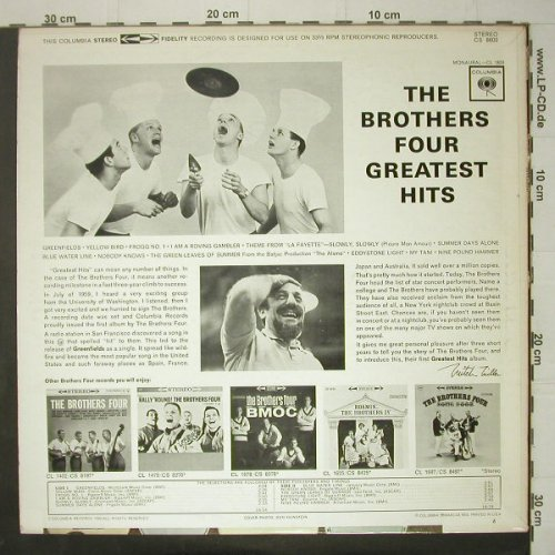 Brothers Four,The: Greatest Hits, Columbia(CS 8603), US,  - LP - C6532 - 7,50 Euro
