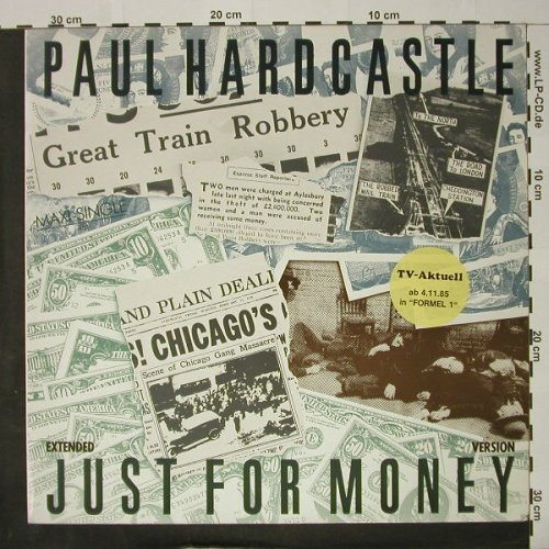 Hardcastle,Paul: Just For Money / Back in Time, Chrysalis(602 098-213), D, 1985 - 12inch - C8110 - 2,50 Euro