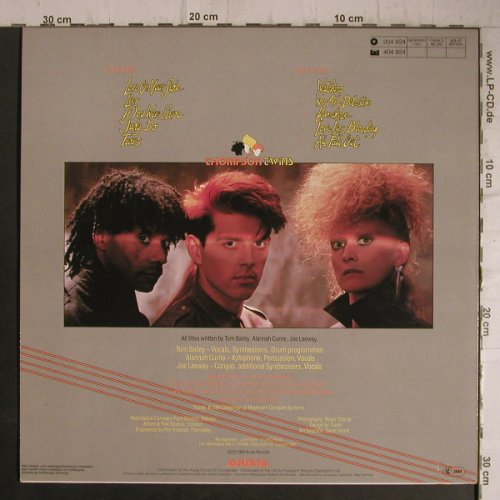 Thompson Twins: Quick Step & Side Kick, Arista(204 924), D, 1983 - LP - C8200 - 3,00 Euro