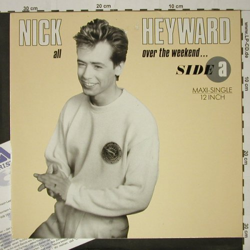 Heyward,Nick: All Over The Weekend/Cry just a Bit, Arista(608 281), D, 1986 - 12inch - C8434 - 3,00 Euro