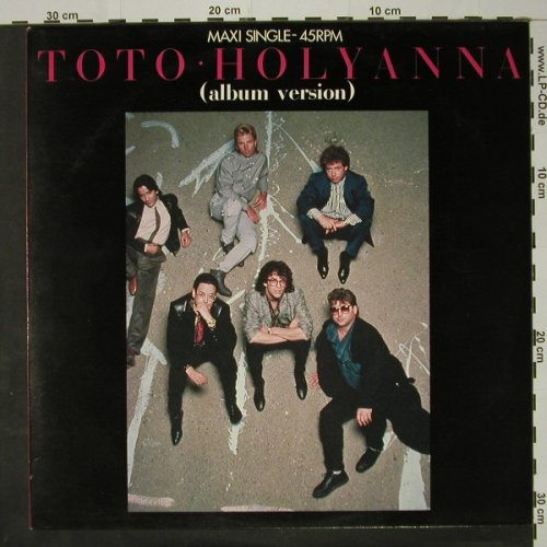Toto: Holyanna/Mr.Friendly 4:20, m-/vg+, CBS(A 12-5027), NL, 1984 - 12inch - C8491 - 2,50 Euro