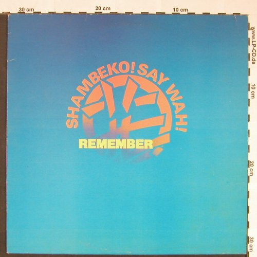 Shambecko Say Wah!: Catwalk Crack+2, Eternal(ZAZU 1), UK, 1982 - 12inch - C8792 - 3,00 Euro