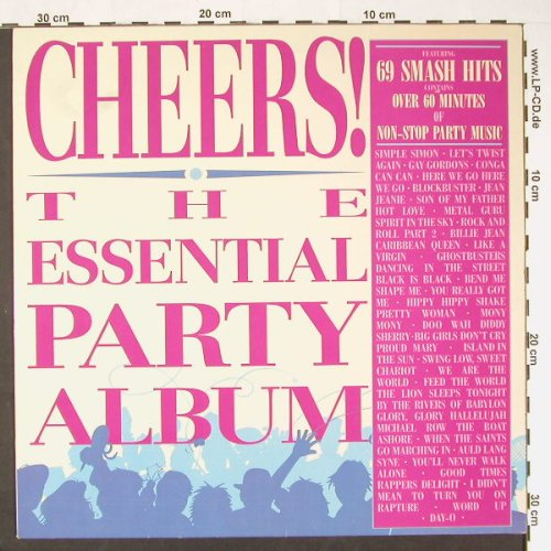 V.A.Cheers!: The Essential Party Album-69Hits, Lifestyle(HOP 215), UK, 1986 - LP - C8956 - 5,00 Euro