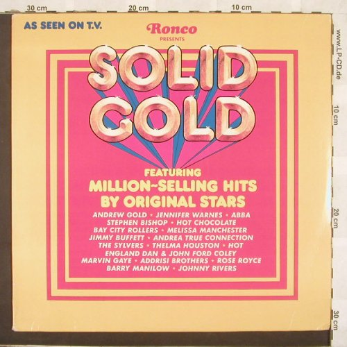 V.A.Solid Gold: 18 Tr., Ronco(R2160), US, 77 - LP - C917 - 4,00 Euro