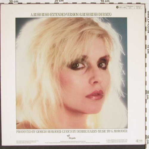 "Harry,Debbie: Rush Rush *2 (""from Scarface""), Chrysalis(601 049), D, 1983 - 12inch - C9499 - 4,00 Euro"
