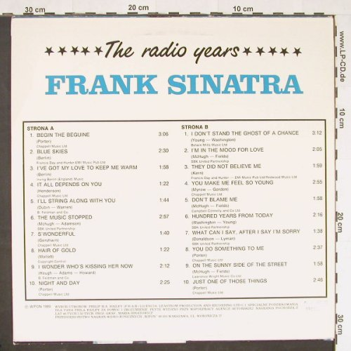 Sinatra,Frank: The Radio Years, Wifon(LP 143), PL, 1989 - LP - C9908 - 7,50 Euro