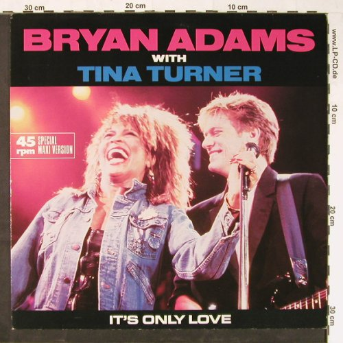 Adams,Bryan  with Tina Turner: It's Only Love(Live)+1, AM(392 060-1), D, 1985 - 12inch - E1218 - 4,00 Euro