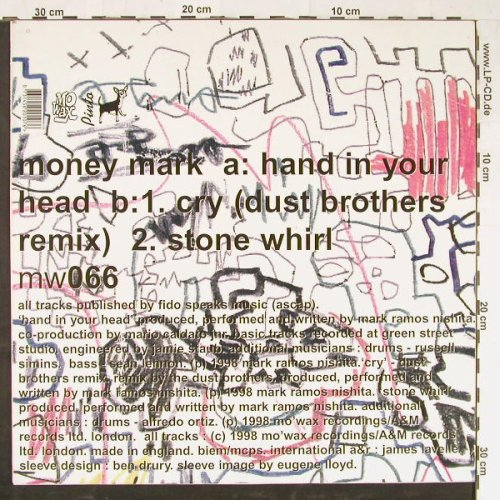 Mark,Money: Hand In You Head+2, AM(mw066), UK, 1998 - 12inch - E1706 - 5,00 Euro