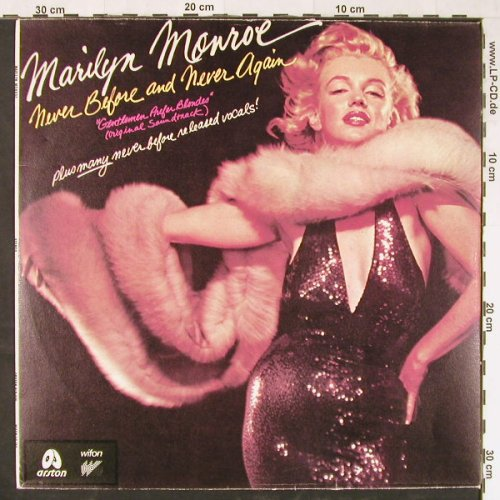 Monroe,Marilyn: Never Before and never Again, Arston/Wifon(ALP026/LP-150), PL,  - LP - E1748 - 7,50 Euro