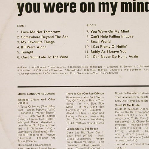 We Five: You Were On My Mind, m-/vg-, London(SHU-U 90), D,  - LP - E2034 - 14,00 Euro