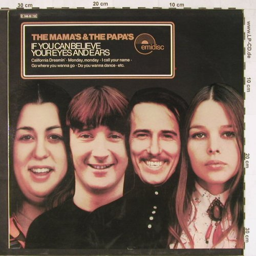 Mamas & Papas: If You Can Believe Your Eyes, Emidisc(C 048-50 723), NL,  - LP - E2039 - 5,00 Euro