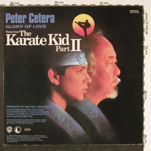 Cetera,Peter: Glory Of Love+1, WB(920 506-0), D, 1986 - 12inch - E2221 - 1,00 Euro