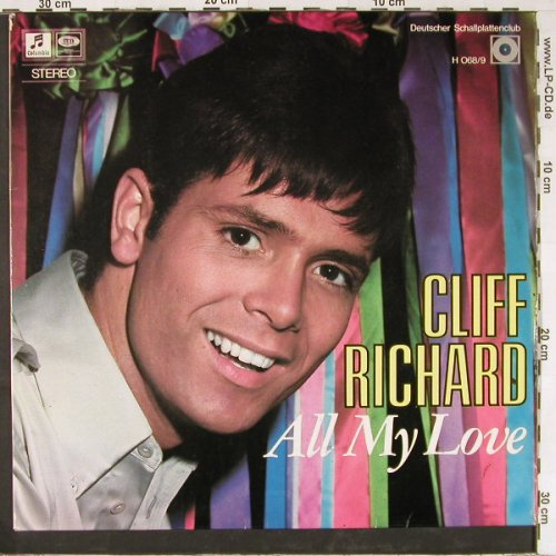 Richard,Cliff: All My Love,vg+/m-, well playable, D.SchallplattenClub(H 068/9), D,  - LP - E2449 - 5,00 Euro