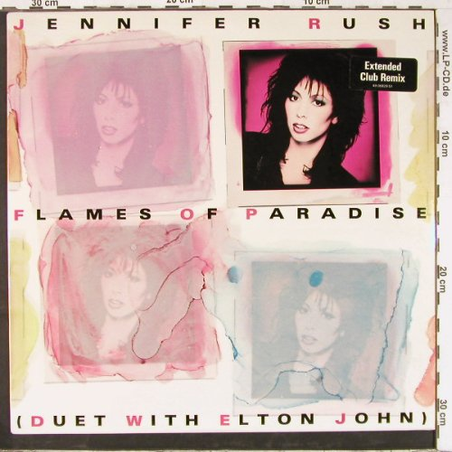 Rush,Jennifer: Flames Of Paradise*2+1, FS-New, CBS(49 06829), NL, 1987 - 12inch - E2541 - 5,00 Euro