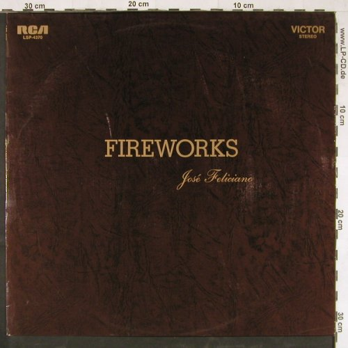 Feliciano,Jose: Fireworks, promo sticker on label, RCA(LSP-4370), D, 1970 - LP - E3073 - 5,00 Euro