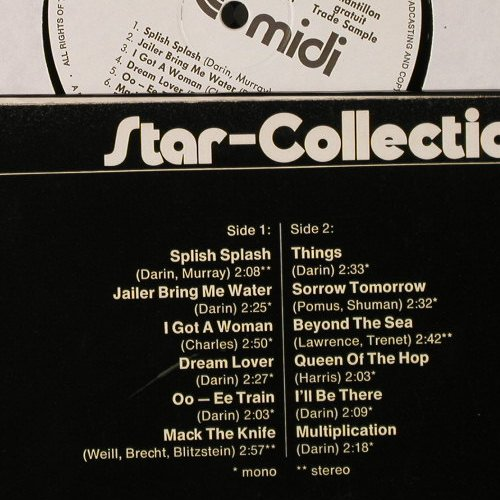 Darin,Bobby: Star-Collection, Warenprobe, Midi(MID 20 031), D, 1972 - LP - E3575 - 7,50 Euro