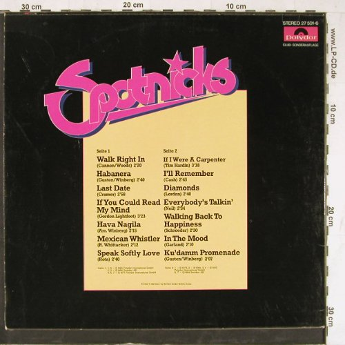 Spotnicks: Same, DSC, vg+/vg+,bad condition, Polydor(27 501-6), D,  - LP - E4222 - 3,00 Euro