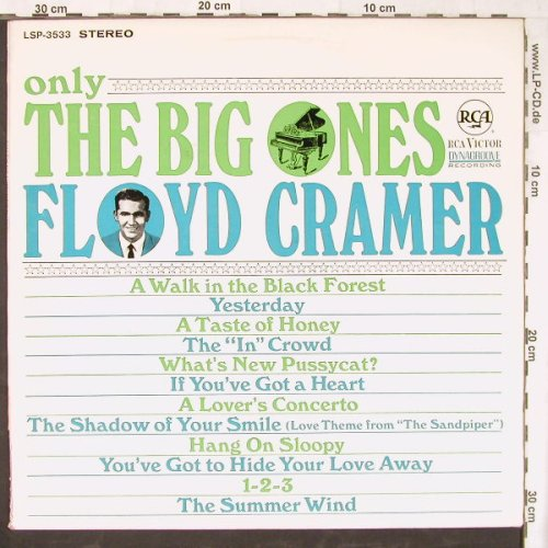 Cramer,Floyd: Only The Big Ones, RCA(LSP-3533), D, 1966 - LP - E4400 - 9,00 Euro
