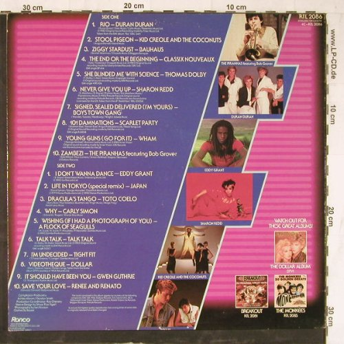 V.A.Chart Wars: Duran Duran...Renee and Renato,20Tr, Ronco(RTL 2086), UK, 1982 - LP - E5230 - 4,00 Euro