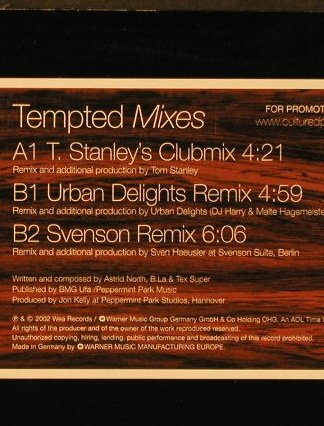 Cultured Pearls: Tempted Mixes, 3 Tr.Promo, WEA(PR 06843), D, 2002 - 12inch - E5841 - 3,00 Euro