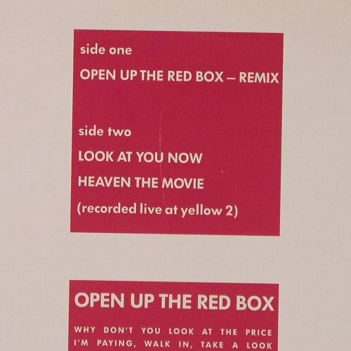Simply Red: Open up the Red Box, rmx +2, WB(248 623-0), D, 1986 - 12inch - E6408 - 4,00 Euro