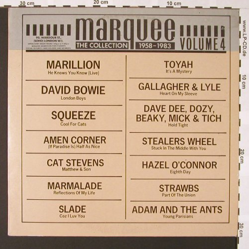 V.A.Marquee Collection: Vol.4, Marillion..Adan & t.Ants, Mean/Victoria(VLP-82), E, 1984 - LP - E6765 - 5,00 Euro