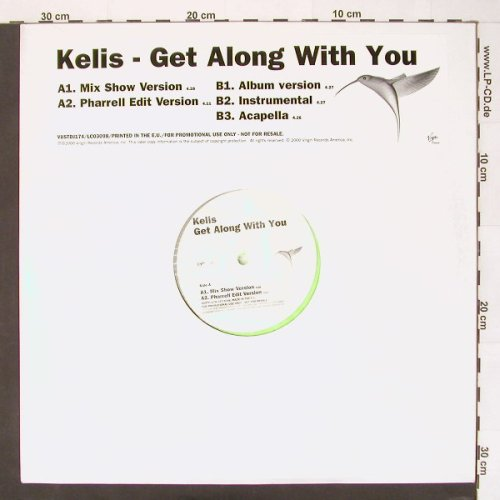 Kelis: Get Along with you*5,green vinyl, Virgin(), EU,Promo, 2000 - 12inch - E6870 - 4,00 Euro