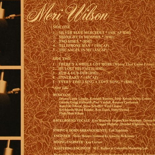 Wilson,Meri: First Take, m-/vg+, GRT(8023), US, 1977 - LP - E9102 - 4,00 Euro