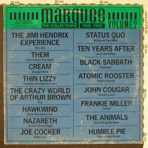 V.A.Marquee-Collection: 1958-1983,16 Tr.,vg+/vg-,playable, England(MAR 2), UK, 1983 - LP - E966 - 4,00 Euro