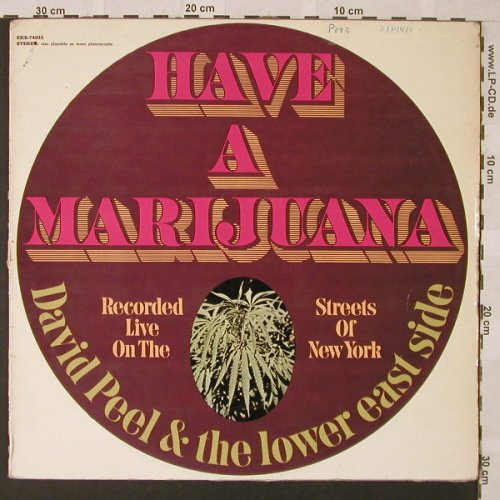 Peel,David & Lower East Side: Have A Marijuana, vg - /vg+, Elektra(EKS-74032), D, 1968 - LP - E9827 - 7,50 Euro