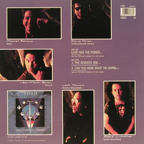 Toto: Love Has The Power +2, CBS(656066 6), NL, 1990 - 12inch - E99 - 3,00 Euro