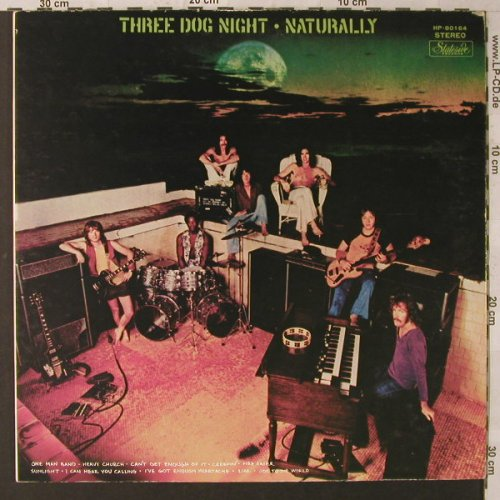 Three Dog Night: Naturally, Foc, vg+/vg+,bad cond., Stateside(HP-80 136), J,  - LP - F1653 - 5,00 Euro