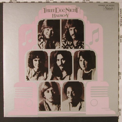 Three Dog Night: Harmony, vg+/m-, bad cond., Stateside(HP-80392), J,  - LP - F1673 - 5,00 Euro