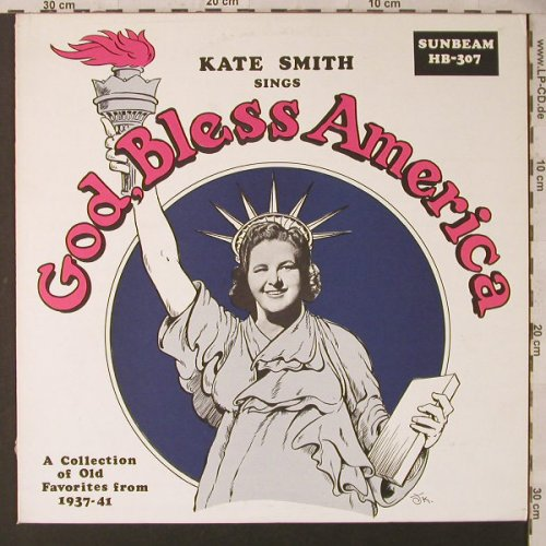 Smith,Kate: sings God,Bless America..1937-41, Sunbeam(HB-307), US, 1974 - LP - F1736 - 7,50 Euro