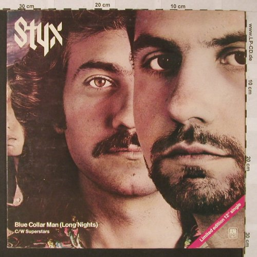 Styx: Blue Collar Man(Long Nights)+1,Foc, AM(SP 7388), UK Lim.Ed., 1977 - 12inch - F219 - 7,50 Euro