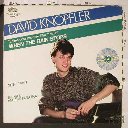 Knopfler,David: When The Rain Stops+2,colouredVinyl, Intercord(INT 125.218), D, 1984 - 12inch - F274 - 4,00 Euro